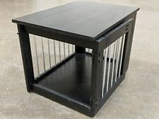 Small Indoor Dog/Cat Crate Wood Kennel and End Table 27.75x20x20.25