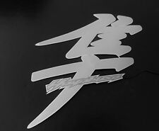 Hayabusa sticker/decal Lighted/Illuminated Kanji / Pair SILVER / GRAY
