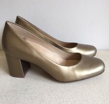 Naturalizer Gold Block Heeled Shoes. Size UK 4. BNWOB.