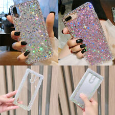 Bling Glitter Diamond Sequin Crystal Clear Soft Silicone Shockproof Phone Case