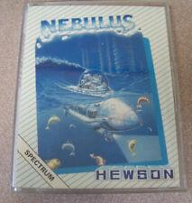 "Vintage ZX Spectrum 1987 Cassette Video Game 4"" X 5.5"" Nebulus Frog Hewson Scifi"