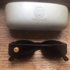 Gianni Versace Medusa Vintage Black Unisex Ladies Sunglasses In Box