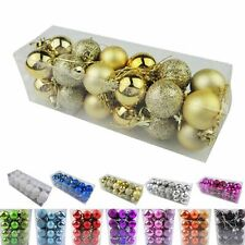 Christmas Baubles Hanging Balls Party New Year Tree Decoration 24 Pcs Ornament