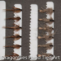 12 Hares Ear & Pheasant Tail Nymphs Trout Fly Fishing Flies -Dragonflies