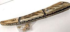 Pre-Shaped Ram Horn Straight Razor Scales Brass Plated razor Making Supply Parts