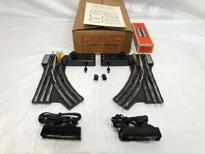 "One Pair Lionel No. 022 Remote Controlled ""O"" Gauge Switches Boxed  OB  Postwar"