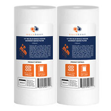 """2-PACK of Aquaboon Sediment Water Filter Whole House Big Blue 5 Micron 10""""x4.5"""""""