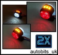 2 x LED SIDE LIGHT MARKER INDICATOR LAMPS SCANIA VOLVO DAF TRUCK TRAILER 24V