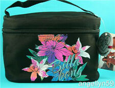 BILLABONG LADIES GIRLS Make Up CASE Black Travel Purse Zip Up Cosmetics Bag NEW