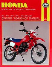 Haynes Manual 0566 - Honda XL100S, XL125S, XL125R, XL185S, XL200R '78-'87