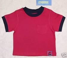 NWT 3-6 months Gymboree SHARK REEF Red Pocket Short Sleeve TOP