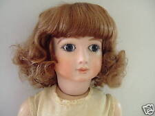 PERRUQUE T5 (25.5cm) pour POUPÉE ANCIENNE en cheveux naturels -DOLL WIG -Bouclée
