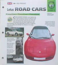 LOTUS Timeline History Brochure: ELAN,ESPRIT,Turbo,EUROPA,7,CORTINA,ELISE,Omega,