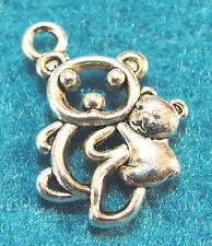 10Pcs. Tibetan Silver MaMa BEAR & Baby Bear Charms Pendants Earring Drops AN51