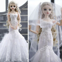 "24"" 1/3 BJD Girl Doll + Veränderbare Augen + Perücken + Kleidung FULL SET Outfit"