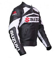 Suzuki GSXR Motorcycle Jackets Biker Racer Leather Motorbike Armour Sport Jacket