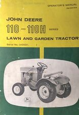 John Deere 110 Round Fender Garden Tractor Owners & Parts Manual 84pg 40,000- F5