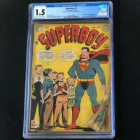 Superboy #1 (DC Comics 1949) 💥 CGC 1.5 💥 Rare Golden Age Key! Superman Comic