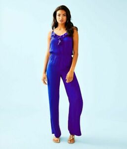 Lilly Pulitzer TINLEY JUMPSUIT Royal Purple Size S/M