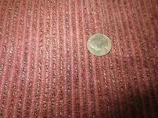"1772. Raspberry Thin Stripe Chenille Upholstery Fabric - 55"" x 1 5/8+ Yds"