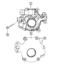 Genuine MOPAR Engine Oil Pump 53020827AC