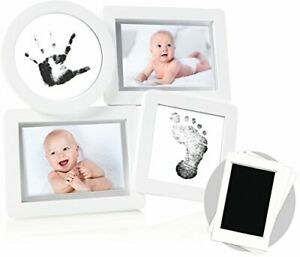 """Pearhead Babyprints Newborn Collage Frame with""""Clean-Touch"""" Ink Pad Included ..."""