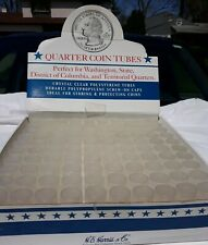 Quarter Coin Tubes Round Screw Top 24 mm Box Of 100 Whitman HE Harris USA Best