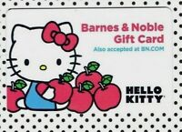 HELLO KITTY - Collectible Gift Card with Backing / BARNES & NOBLE / No Value