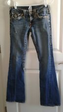 True Religion Womens 27 Jeans Flare distressed 28x30 twisted seam