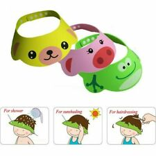 Baby Kids Toddler Bath Shower Cap Shampoo Shield Cartoon Bathing Hat Eyes Hat 3p