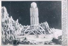 1957 Press Photo Spaceship Scene From Russian Sci Fi Movie Way to The Stars