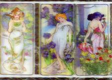 3D Lenticular Postcards - Art Nouveau Flower Series Alphonse Mucha