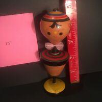 Vintage Japanese Kokeshi Doll Top #15