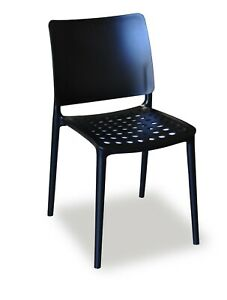 4x Holey Chairs - Black - Perfect Outdoor Seating