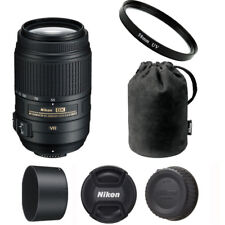 Nikon 55-300mm VR DX ED AF-S Lens + 58mm UV Filter for D3200 D3300 D5300