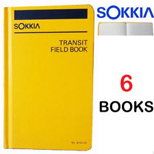 Sokkia  815200 Transit Field Book - Set of 6 (Six) Books