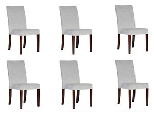 6x Chairs Stackable Chair Pads Design Lounge Club Seat Lehn Set Armchair
