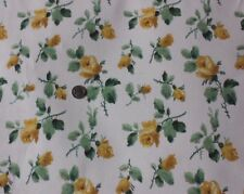 Antique Vintage French Yellow Roses Wallpaper Sample c1920-1930