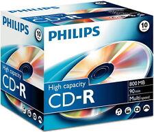 20 Philips Rohlinge Cd-r 90min 800mb Jewelcase