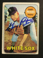 Gary Peters White Sox signed 1969 Topps baseball card #34 auto autograph