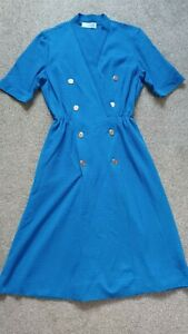 Vintage dress  Royal blue wartime style 40s 50s  size 14  great condition
