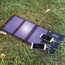 21W Faltbar Solar Panel Solarmodule USB Ladegerät Power Bank für Handys DE