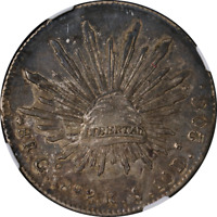 Mexico 1892 GO RS 8 Reales NGC AU53