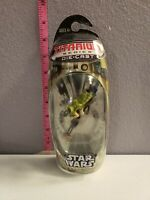 Vintage Hasbro Star wars die cast titanium Leias speeder bike 2006 micro machine