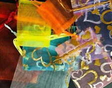 Organza Gift Bags, x10, x25, x50 7cm x 5cm, 9cm x 7cm, 12cm x 10cm