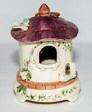 "Vintage SCHMID Music Box~Musical Moving Bird House~""Yellow Bird""~Lovely!!"