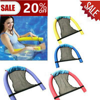 Swimming Inflatable Floating Float Water Hammock Pool Lounge Bed Chair Summer @~