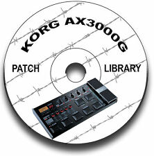 KORG AX3000G PATCH BIBLIOTHEK GITARRENEFFEKTPEDALE CD