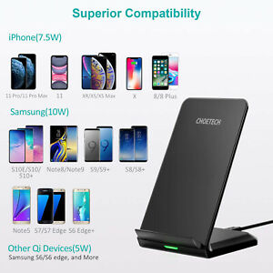 For Samsung Galaxy Note 10 CHOETECH High Speed Wireless Charger Stand Holder