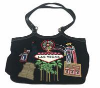 "Welcome Las Vegas Embellished Handbag Purse Casino Gambling Bag 13"" X 9"""